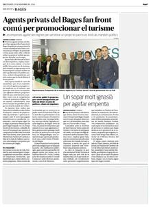 29 de novembre de 2014, Agents privats del Bages fan front comú per promocionar el turisme
